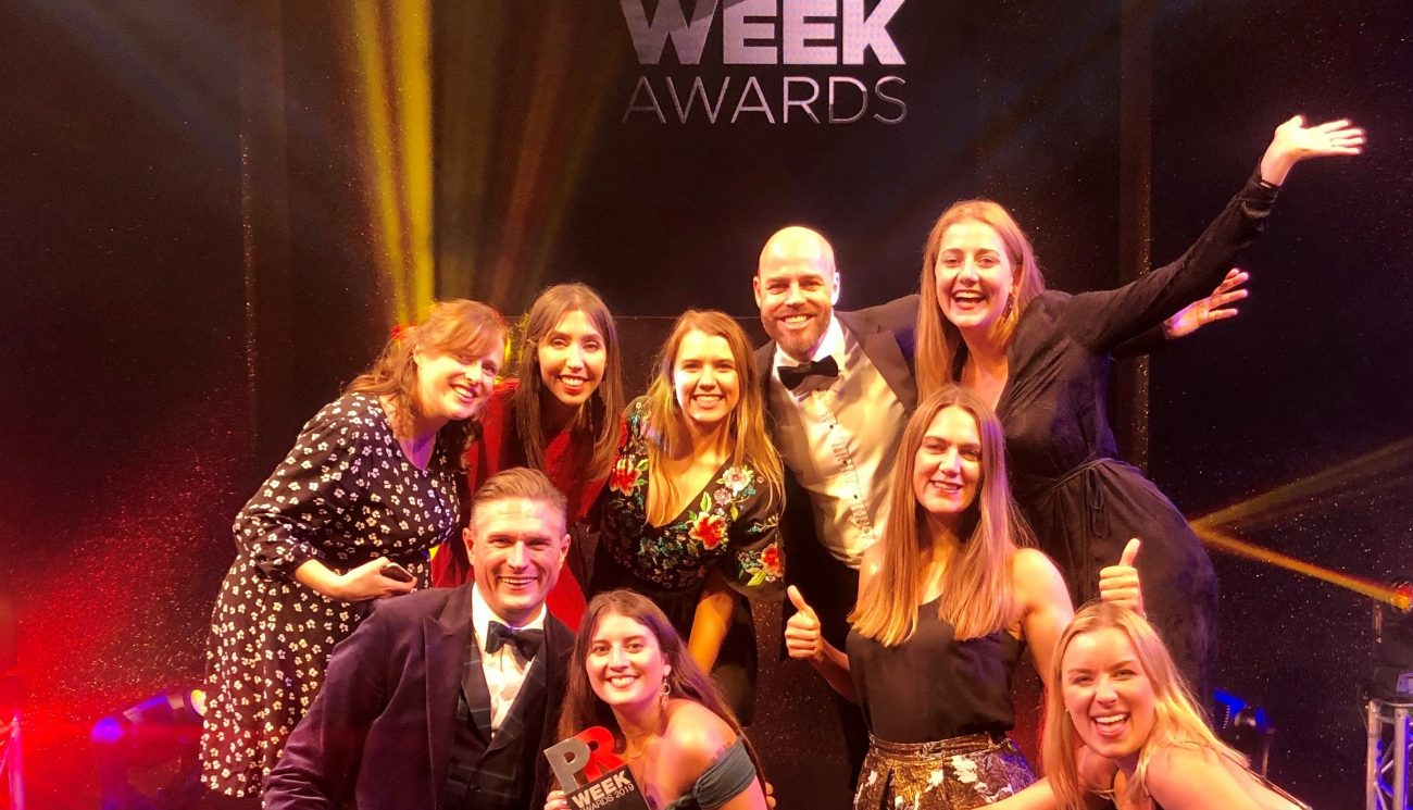 90TEN named Specialist Consultancy of the Year at 2019 PRWeek UK Awards